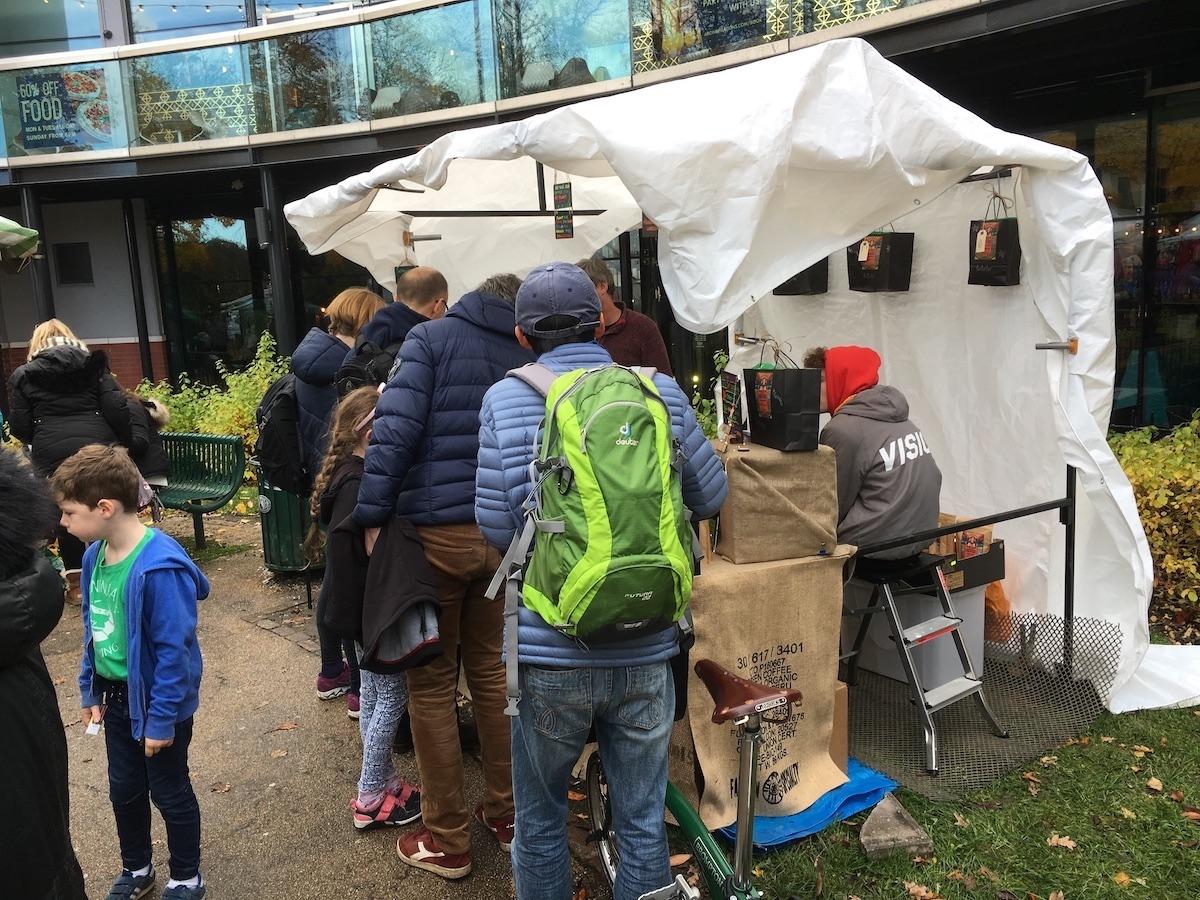Queuing Up For Whole In The Ground Coffee