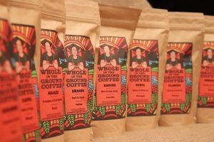 Row off Coffee Bags
