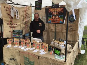 Whole In The Ground Coffee At Headingley Farmers' Market - A windy and Chilly Day