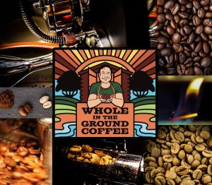 Whole In The Ground Coffee Logo & Roasting Images
