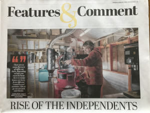 Rise Of The Independents - Yorkshire Post feature on Whole In The Ground Coffee.